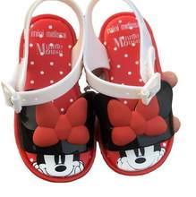 Disney marca mini melissa bebê geléia sapatos congelados minnie mouse princesa sapatos de praia verão crianças sapatos linda melissa sandálias
