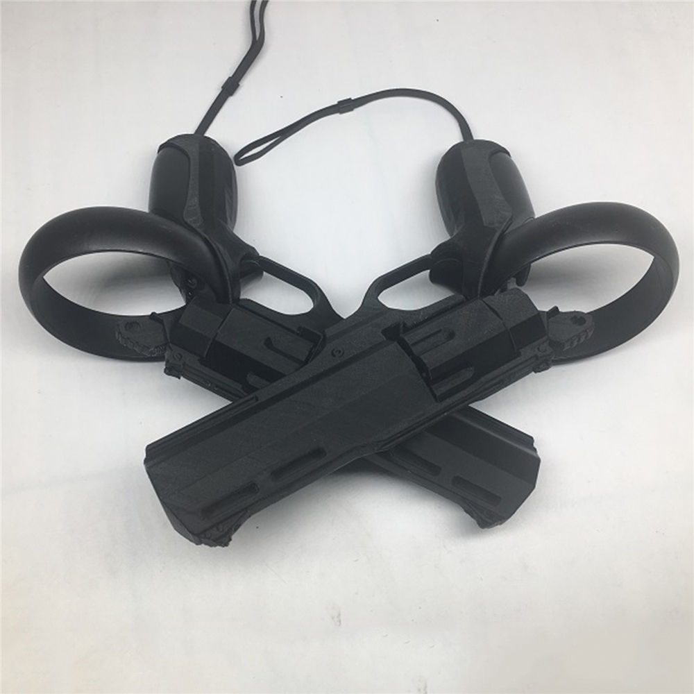 1 Pair VR Game Shooting Gun Left & Right Revolver Shooting Model Gun For Oculus Quest / Rift S VR Headset Touch Controller Grips