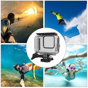 Image 3 - 60m boîtier étanche sous marin pour GoPro Hero 8 coque de protection boîtier noir caméra lentille filtres 60M plongée natation ensemble