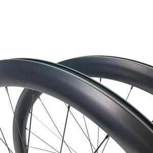 Image 4 - Дорожные дисковые велосипедные карбоновые колеса ELITE 700c Novatec D411 с 6 болтами или центральным затвором