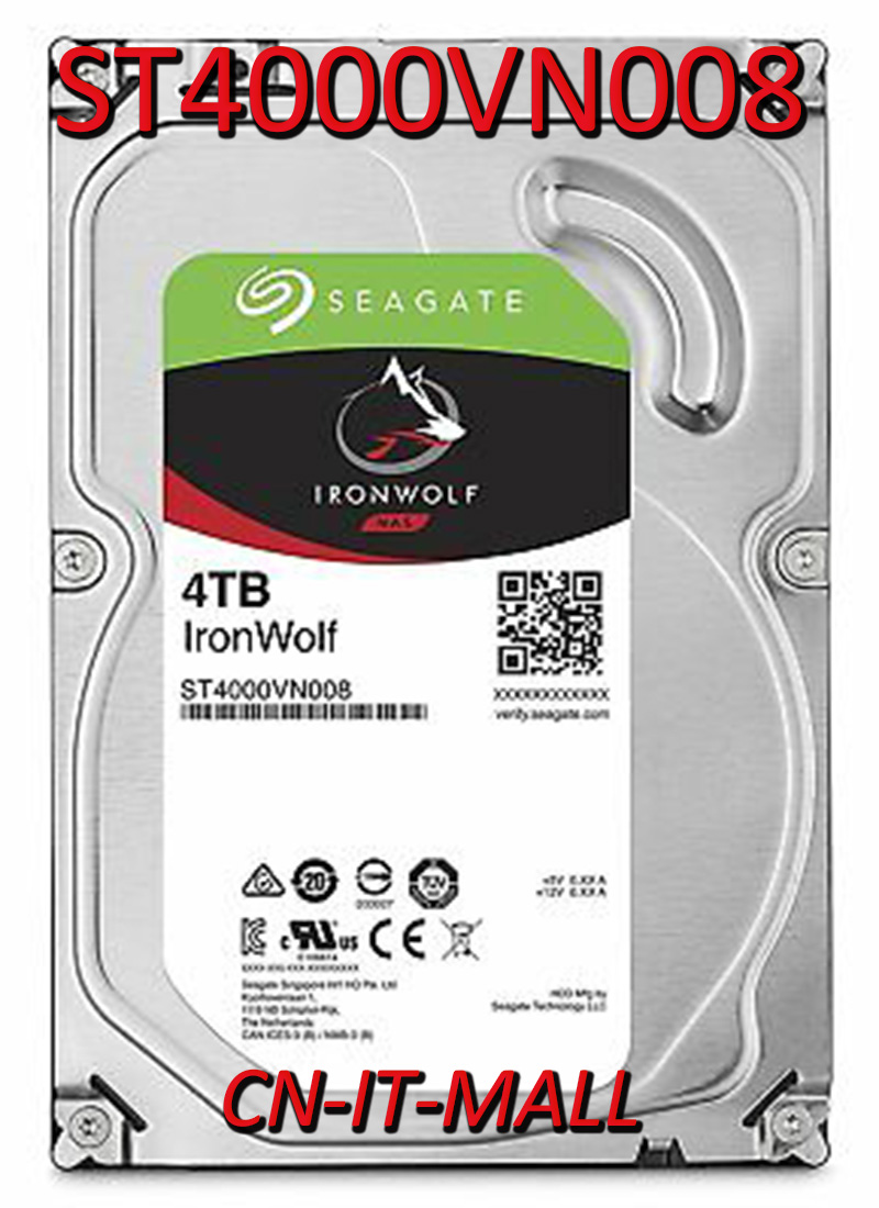 Seagate IronWolf ST4000VN008 4TB NAS 5900 RPM 64MB Cache SATA 6.0Gb/s 3.5
