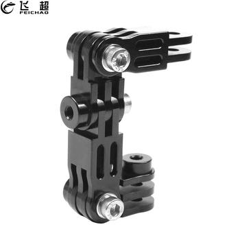 Helmet Extension Pivot Arms Adjustable Joint Tripod Adapter Mount Connector for Gopro Hero 9 8 7 5 Max Yi Insta360 ONE R Camera 1