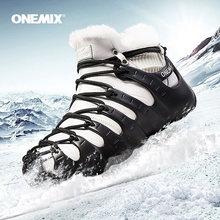 Зимние ботинки onemix для мужчин прогулочная обувь женщин Уличная