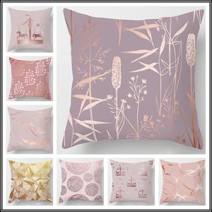 Rose Gold Pink Pillow Cushion