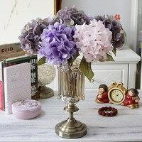 1 Bundle Silk Hydrangea Autumn Vase for Home Decor Christmas Decorative Wedding Bridal Bouquet Wall Set Artificial Flowers Cheap
