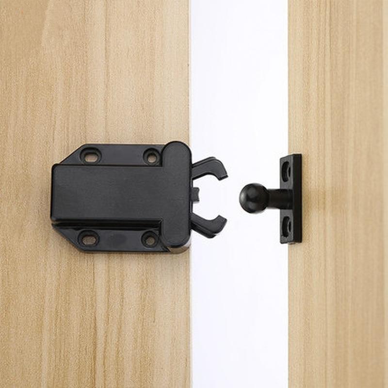 2x Adjustable Roller Ball Door Spring Catch Lock Nylon Internal Latch Chrome