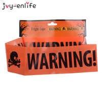 JOY-ENLIFE Halloween Warnung Vorsicht Band Halloween Party Gefahr Band Warnband Isolation Gürtel Zeichen Garten Decor 580x8,5 cm