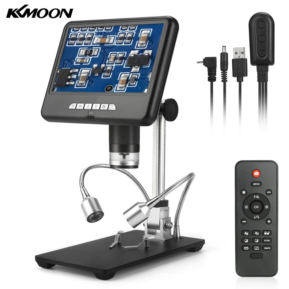 KKMOON AD207 7-inch Professional 1080P HD Digital Video Microscope Camera 100X Magnification With Storage Function For Soldering
