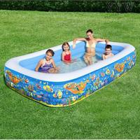 Rectangular Swimming Pool Portable Pools for Kids Inflatable Bathtub Baby Blow Up Kid Pools Hard Plastic Water Toys for Outdoor