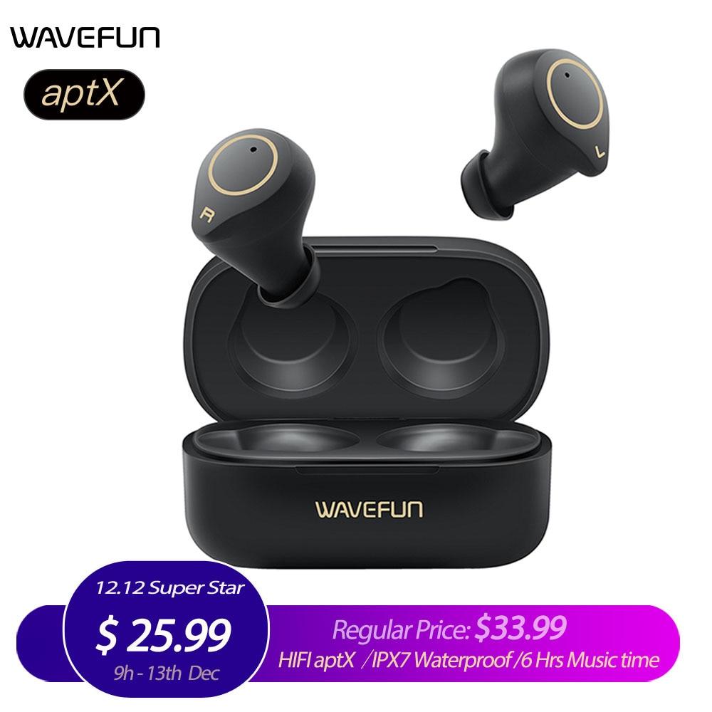Wavefun XPods 3 Bluetooth אוזניות HIFI aptX אוזניות IPX7 אלחוטי אוזניות מגע שליטה אלחוטי אוזניות Bluetooth 5.0