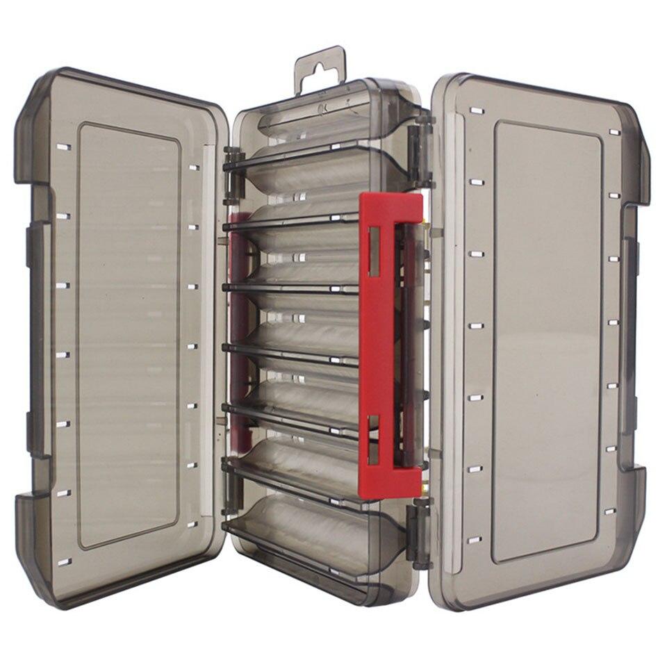 GOBYGO boîte de matériel de pêche pour leurre 12 et 14 compartiments haute qualité Double face boîte ABS matériel accessoires de pêche