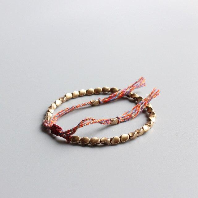 Tibetan Braclet Buddhist Braided Copper Bracelet For Women Lucky Rope Beads For Bracelets Bangles Men 2020 Trend Accessories
