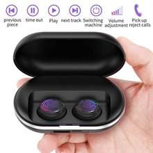Gt1 tws impressão digital toque fone de ouvido bluetooth, fone de ouvido hd sem fio, cancelamento de ruído jogos