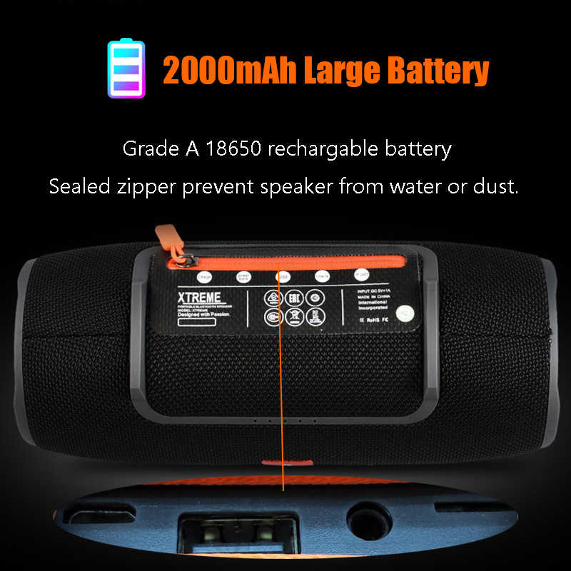 New Wireless Best Bluetooth Speaker Waterproof Portable Outdoor Mini Column Box Loudspeaker Speaker Design For Phone Tablets TG