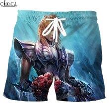 Шорты cloocl с рисунком аниме «Рыцари Зодиака» saint seiya модные