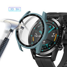 Funda protectora completa para Huawei Watch GT 2, 2E, GT2, GT2E, 46mm, 46mm, con película de vidrio, Protector de pantalla, accesorios
