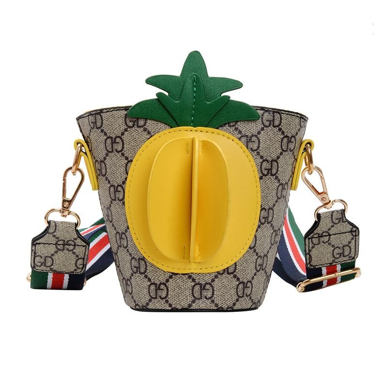 Korean-style 2019 Autumn New Style Trend Cartoon Small Bucket Bag Fashion Casual Adorable Baby Versatile Single-shoulder Crossbo