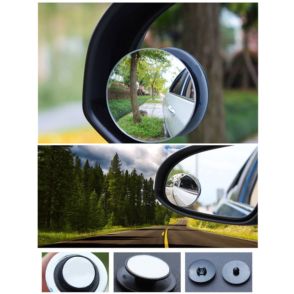 Hot Sale!1 Universal Car Blind Spot Mirror 3inch Wide Angle Convex Rear Sideview