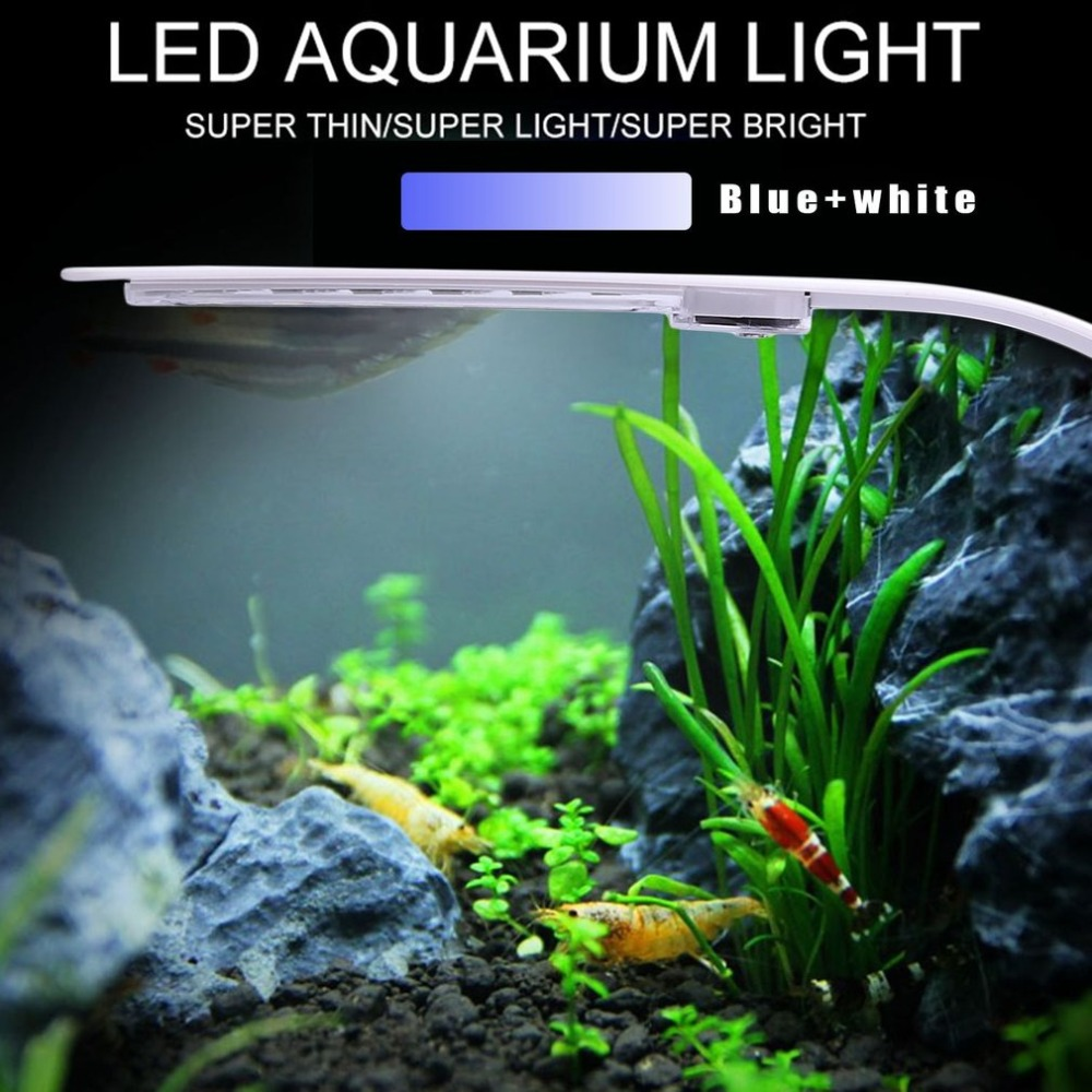 X5W EU/US Plug Super Bright LED Aquatic Plant Lamp Aquarium Light Plants Grow Light Waterproof Clip-on Lamp For Fish Tank