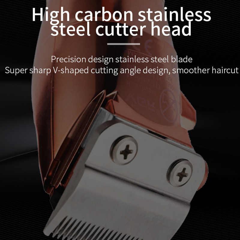 VGR-cortadora de pelo sin cable, completamente de metal, V-113, maquinilla eléctrica para cortar el pelo, 1500mAh, cortadora de pelo sin cable, color oro rosa, cortadora de pelo