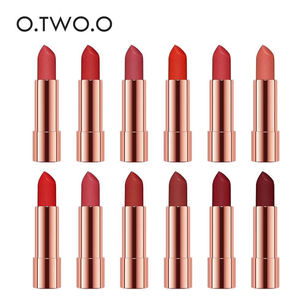 O.TWO.O 12 pz/set Semi Velluto Rossetto Idratante Impermeabile Nudo Trucco di Colore Kit