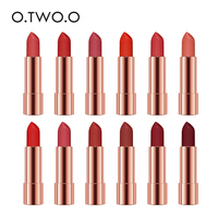 O.TWO.O 12pcs/set Semi Velvet Lipstick Moisturizing Waterproof Nude Color Makeup Kit