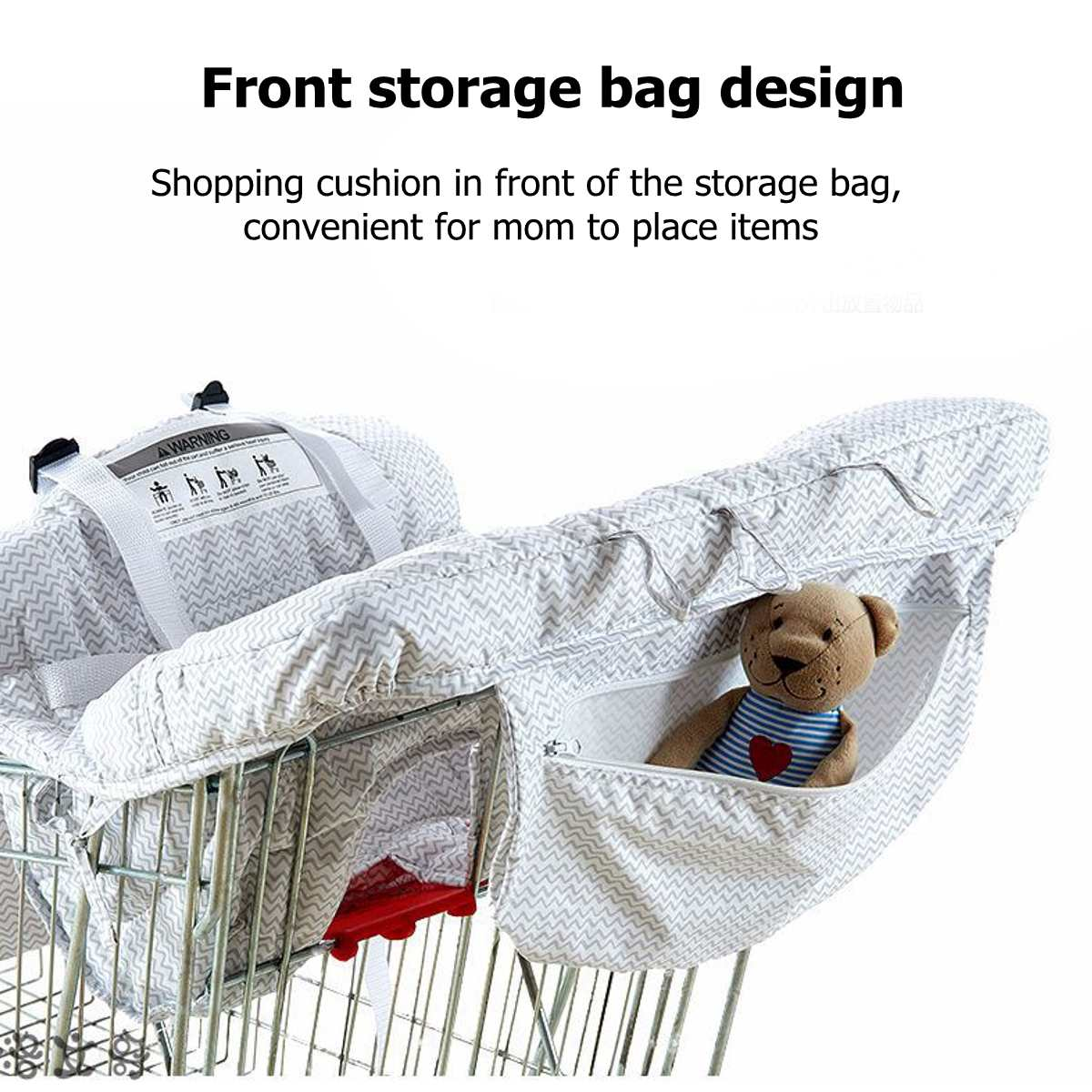 Foldable Baby Supermarket Shopping Cart Cover Baby Safety Seats Kids Chair Mat Anti-Stain Dirty For Shopping Troller High Chair 3