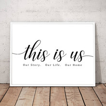 Our Story Our Life Our Home Black and White Wall Art Canvas Paintings Print Poster Pictures for Bedroom Modern Home Decor CH107