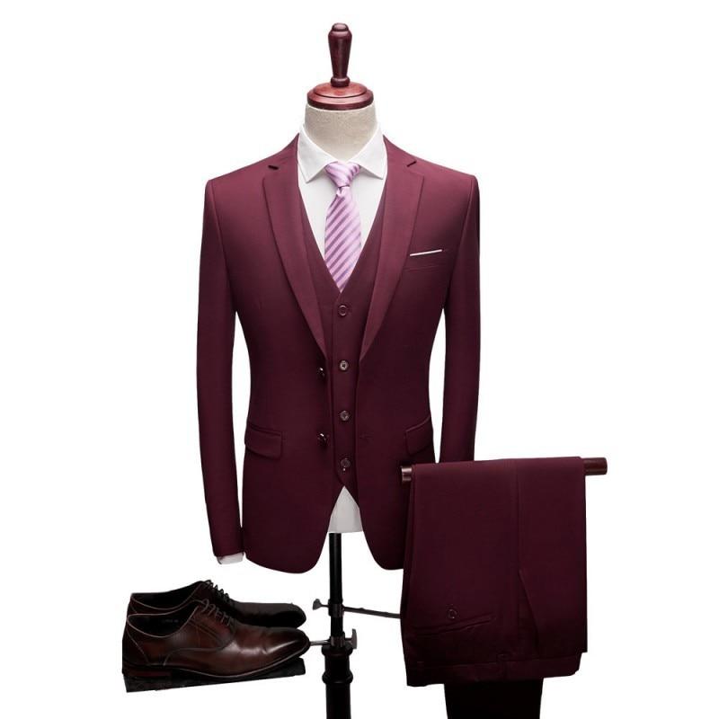 Latest Coat Pant Designs Fashion Tweed Men Wedding Suits Double Button Groom Tuxedos 3 Piece Suits Clothes Men Jacket+Pants+Vest