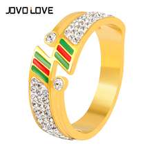 Fashion Luxury crystal rings gold rings For Women Gold Color stainless steel ring Wedding Ring Engagement Brand Jewelry For Gift engagement rings for women wedding jewelry big crystal stone ring stainless steel jewelry