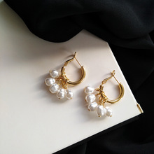 2020 Korean Style Simulated Pearl Tassel Earrings for Women Sweet Small Pearl Geometric Gold Color Elegant Drop Earring Jewelry 2020 korean style simulated pearl tassel earrings for women sweet small pearl geometric gold color elegant drop earring jewelry