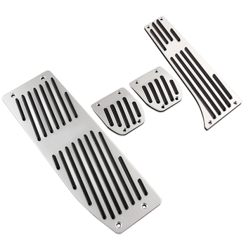VCiiC Aluminum Foot Rest Pedals Set Fit For BMW E30 E36 E46 E87 E90 E91 E92 E93 M3 M Tech AT MT Silver Black Color image
