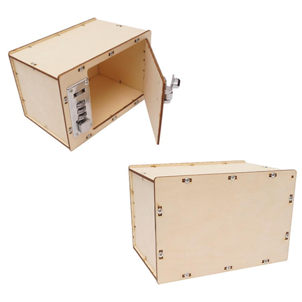 DIY Mechanical Password Box Building Model Science Experiment Kit Education Toy New