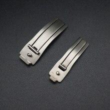 Piezas de reloj de acero inoxidable, 10 unidades por lote, piezas de reloj con hebilla, 6mm, 9mm, piezas de bandas de reloj, 6021  WP0002