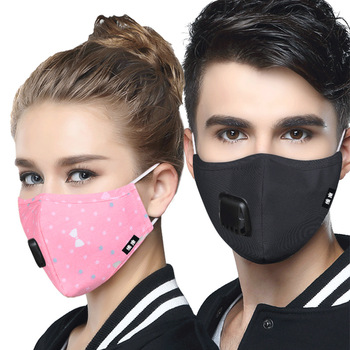 PM 2.5 Mask Full Face Protective Mask Anti-Dust Flu Mouth Masks Kn95 Respirator Activated Carbon Washable Breathing Apparatus