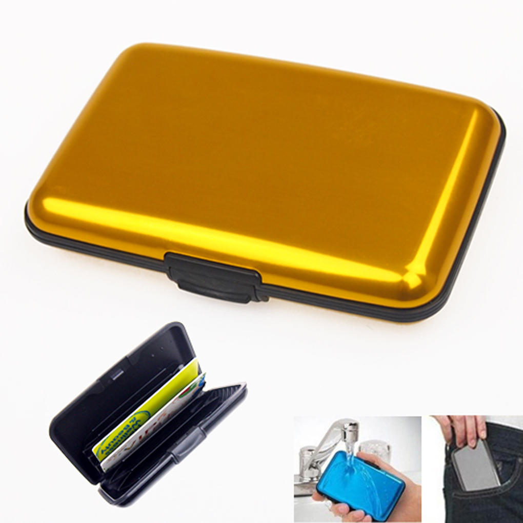 Wallet Card-Holder Credit-Card Aluminum-Bank Blocking Anti-Rfid Portable Solid 1-Pc Scanning