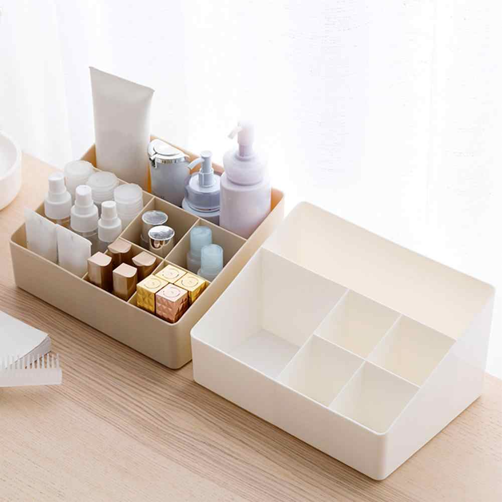 6 Grids Desk Makeup Organizer Cosmetic Storage Box Case Brush Lipstick Holder Skin Care Case Pen Pencial Stationery Storage Box