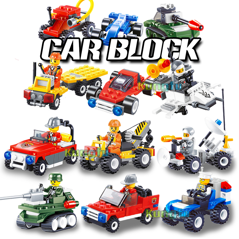 Tank Airplane Car Building Blocks Bricks City Military Series Vehicle Accessory Compatible Technic City Toys For Kids