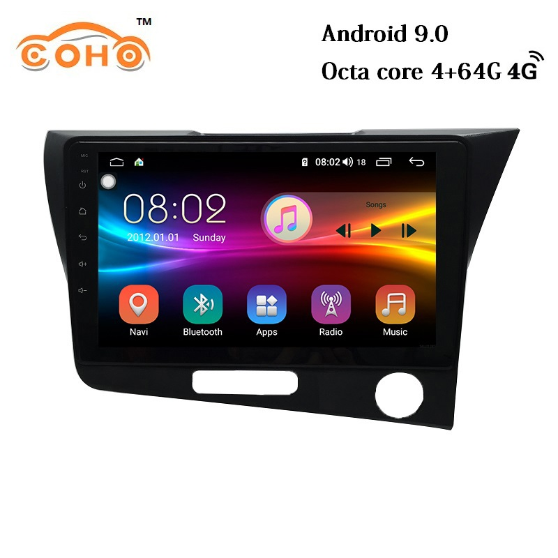 Cr-Z/<font><b>Crz</b></font> Android 9.0 Octa Core 4+64G Central Multimidia Video 1 Din Android Car Radio For <font><b>Honda</b></font> Cr-Z/<font><b>Crz</b></font> Rhd image