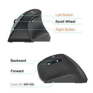 Image 4 - DAREU ratón Vertical inalámbrico LM108G 2,4 Ghz, 6 botones, 1600 DPI, ergonómico, tipo piel, para PC, portátil, ordenador y oficina
