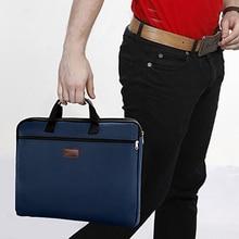 Men Women A4 Book With Handle Large Capacity Zipper Storage Organizer Travel Short Closure File Folder Canvas Document Bag