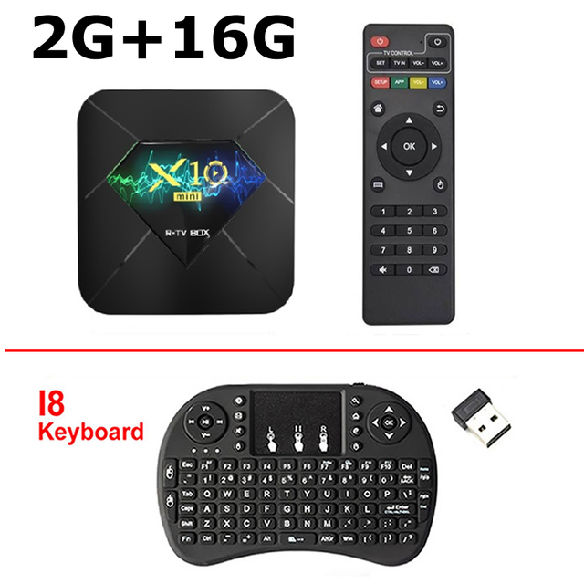 X10mini Android 10.0 TV Box H313 QuadCore 4K STB @60FPS 2GB+16G WiFi Media L0J8