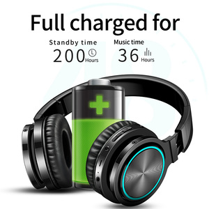 Image 5 - B12 무선 헤드셋 블루투스 V5.0 전문 게임 헤드폰 LED 라이트 HD 스테레오 Supoort TF 카드 PC 스마트 폰용