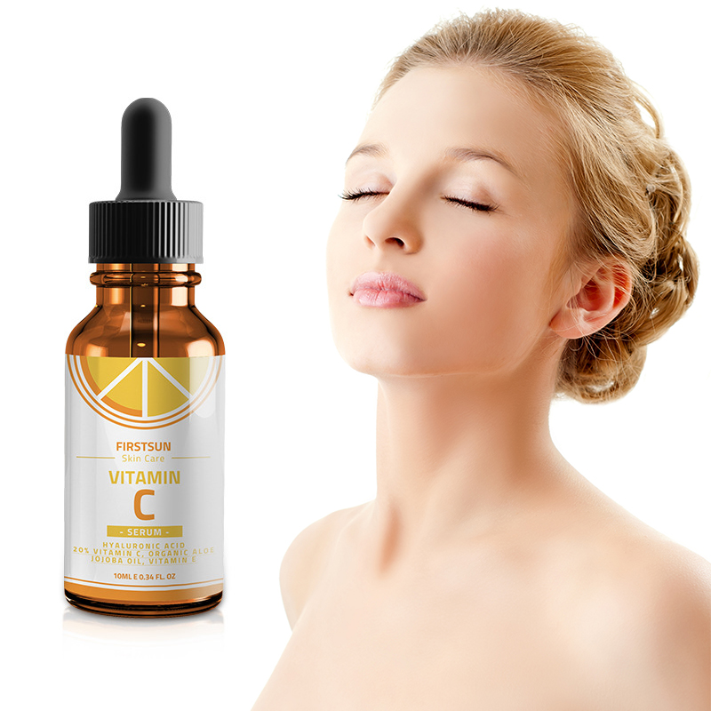 100% Pure Vitamin C + Hyaluronic Acid Smoothing Face Serum Anti-wrinkle Vc Face Serum  Face Eye Treatment TSLM1