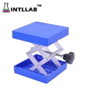 Image 2 - ห้องปฏิบัติการยกแพลตฟอร์ม Stand Rack กรรไกร Lab แจ็ค 100x100mm (4 X 4) พลาสติกและสแตนเลสสตีล