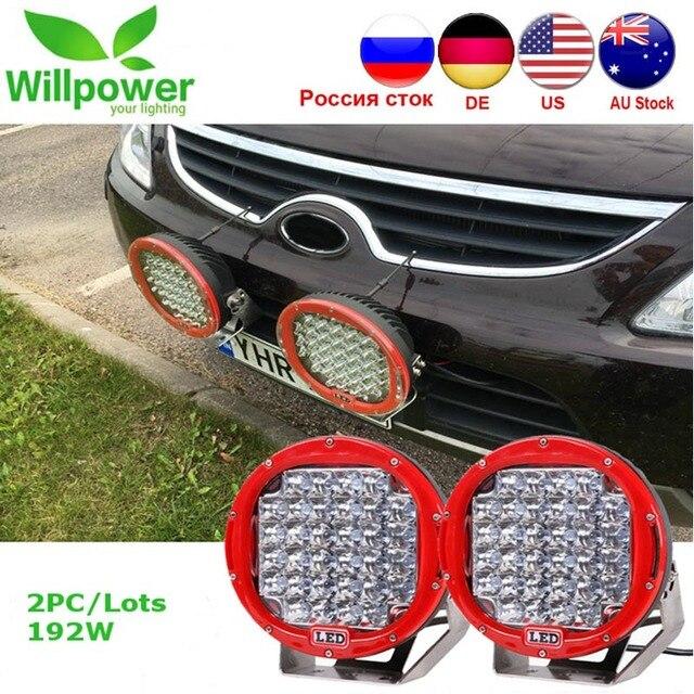 2Pcs 9 אינץ LED עבודת אור בר 96W LED אור בר 12V 24V ספוט עבור 4WD 4x4 משאית קרוואן SUV Offroad סירת טרקטורונים נהיגה אור