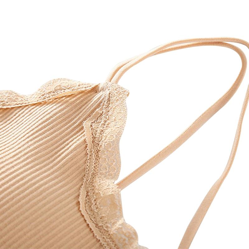 Beauty Back Bra Women Lace Side Thread Wireless Bralette Lingerie Spaghetti Strap Solid Color Bra Intimates Underwear in Bras from Underwear Sleepwears