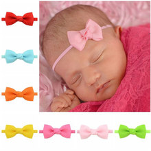 baby girl headband Infant hair accessories cloth Tie bows Headwear tiara Gift Toddlers bandage Ribbon newborn headwrap стоимость