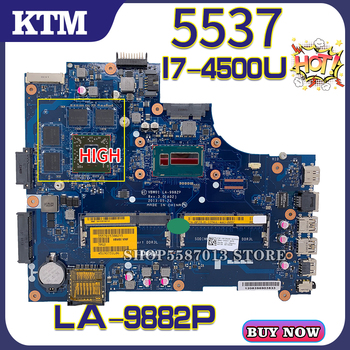 for NEW DELL Inspiron 15R DELL 5537 DELL 3537 LA-9982P laptop motherboard mainboard 100% test work OK I7-4500U CPU AMD PM for dell inspiron 15r m5010 laptop motherboard cn 0yp9np 0yp9np 09913 1 48 4hh06 011 ddr3 free shipping 100% test ok