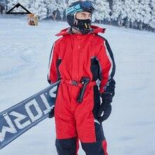 Зимний комбинезон с капюшоном, женский спортивный зимний костюм, Мужской флисовый женский лыжный костюм, теплый водонепроницаемый комбинезон для сноуборда, женская одежда